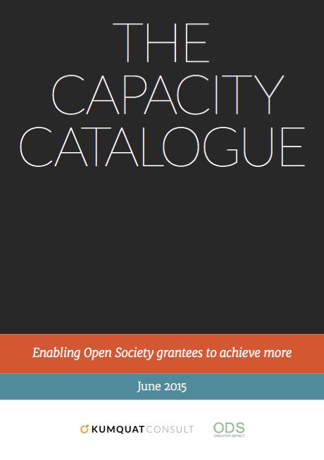 The Capacity Catalogue